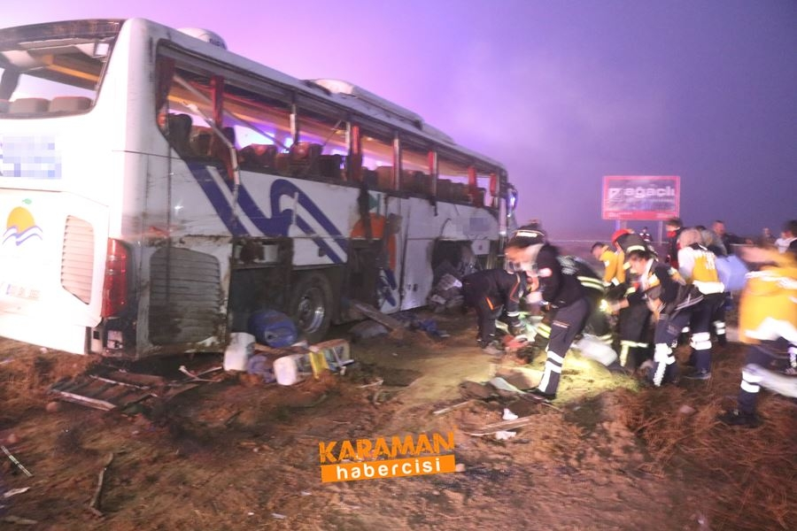 Aksaray'da Otobüs Kazası 9