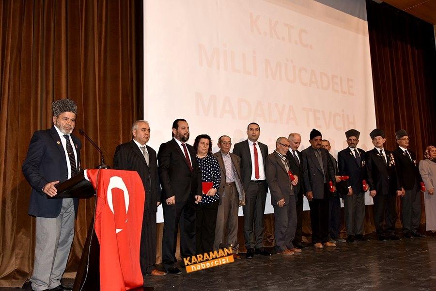 Kıbrıs Barış Harekâtına Katılan Gazilerimize Milli Mücadele Madalya Ve B 12