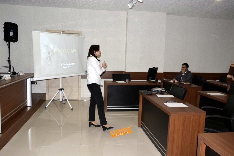meclis üyelerine etkili iletişim eğitimi verildi 2