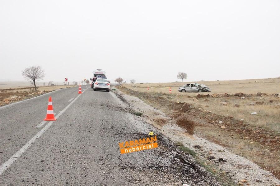Karaman'da Trafik Kazası : 1 Ölü 1 Yaralı 7