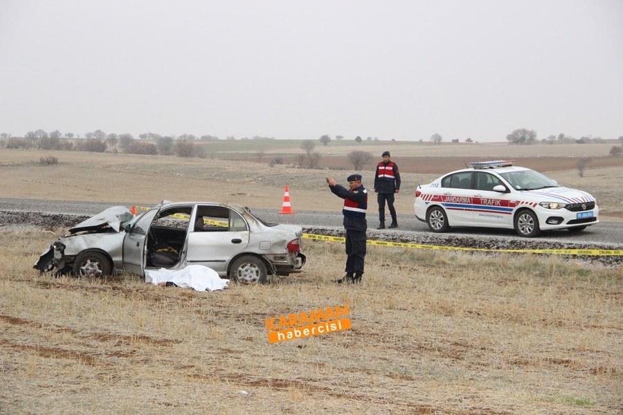 Karaman'da Trafik Kazası : 1 Ölü 1 Yaralı 9