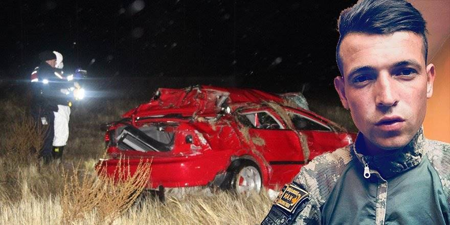 Karaman'da Trafik Kazasında Genç Uzman Çavuş Hayatını Kaybetti