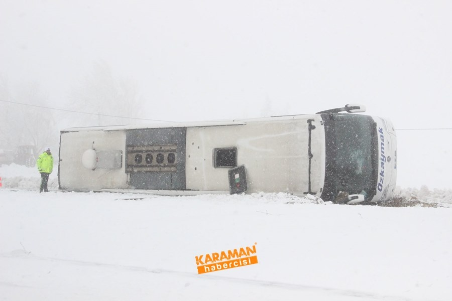 Karaman'da Yolcu Otobüsü Devrildi: 25 Yaralı 9