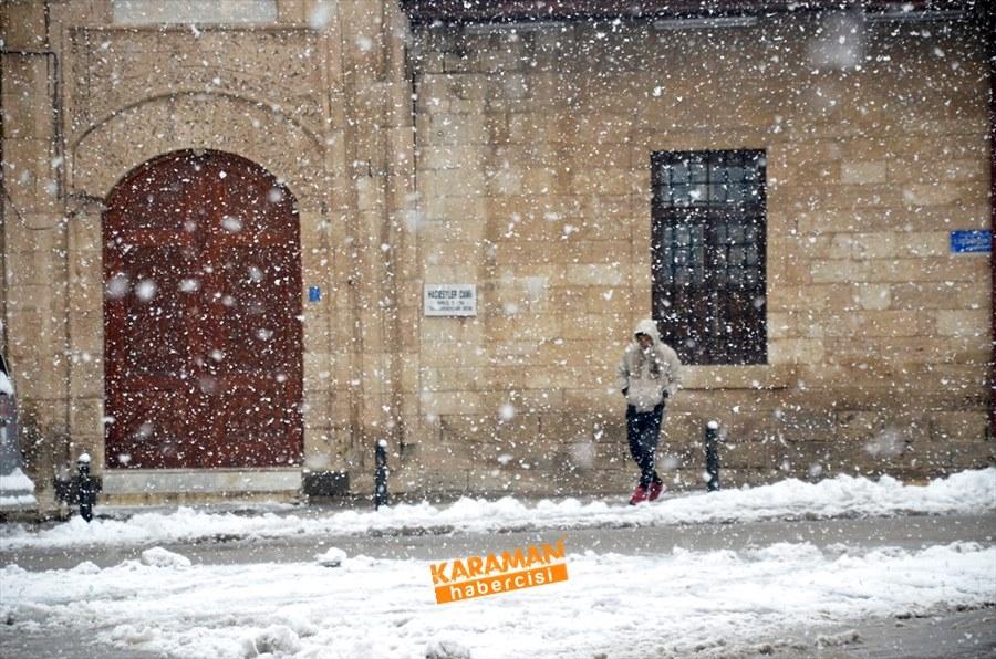 Karaman kar yağışlı 32