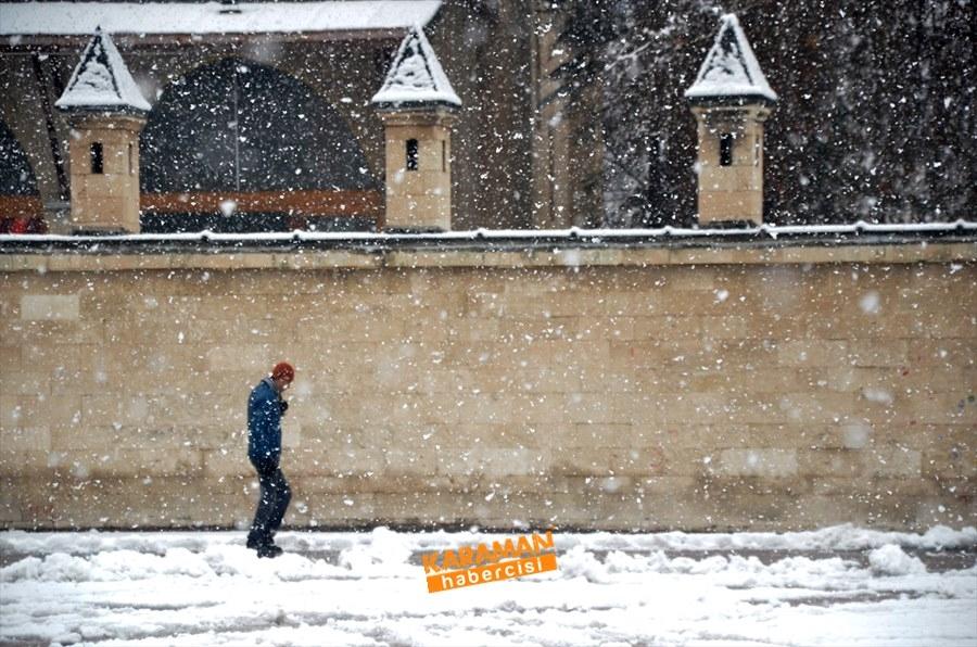 Karaman kar yağışlı 35