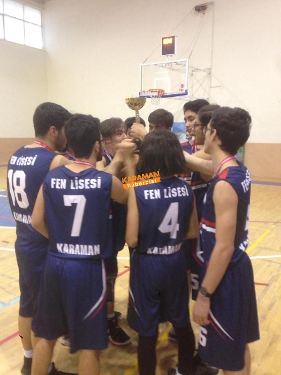 Karaman TOBB Fen Lisesi Basketbol Takımı İl Birincisi Oldu 6