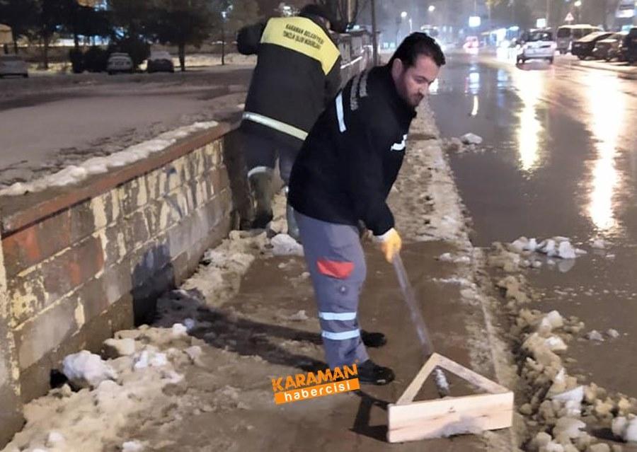 Karaman'da Belediye Ekiplerinin Yoğun Mesaisi 1