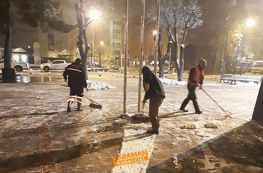 Karaman'da Belediye Ekiplerinin Yoğun Mesaisi 11