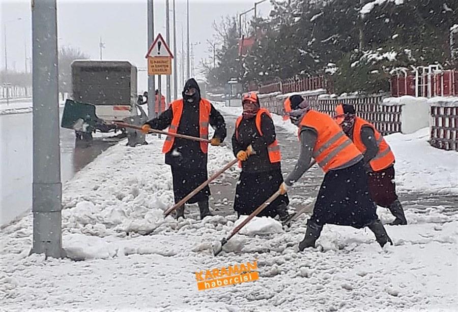 Karaman'da Belediye Ekiplerinin Yoğun Mesaisi 3