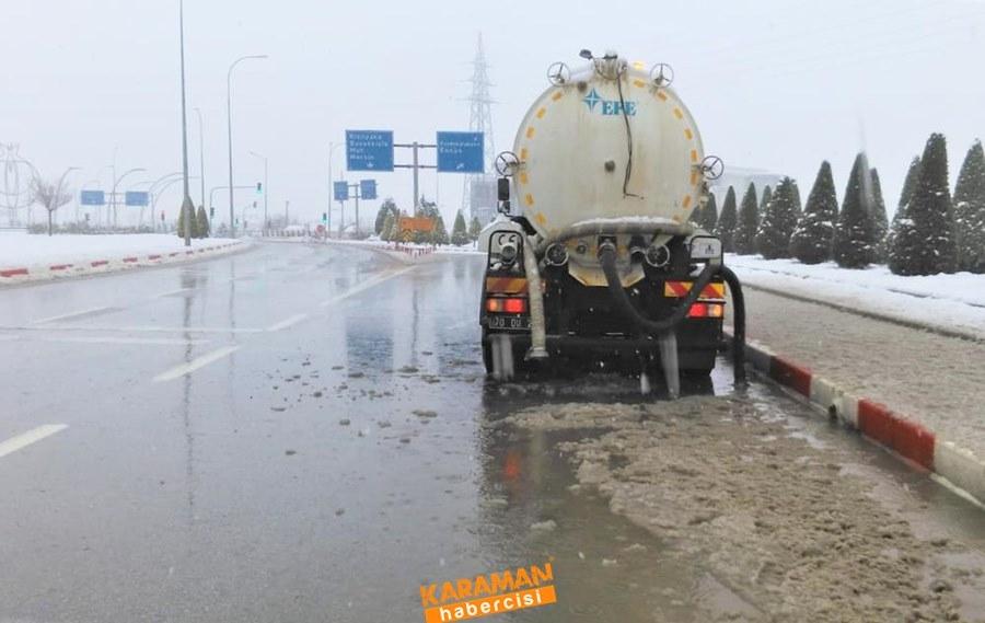 Karaman'da Belediye Ekiplerinin Yoğun Mesaisi 5