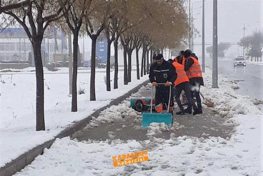 Karaman'da Belediye Ekiplerinin Yoğun Mesaisi 6