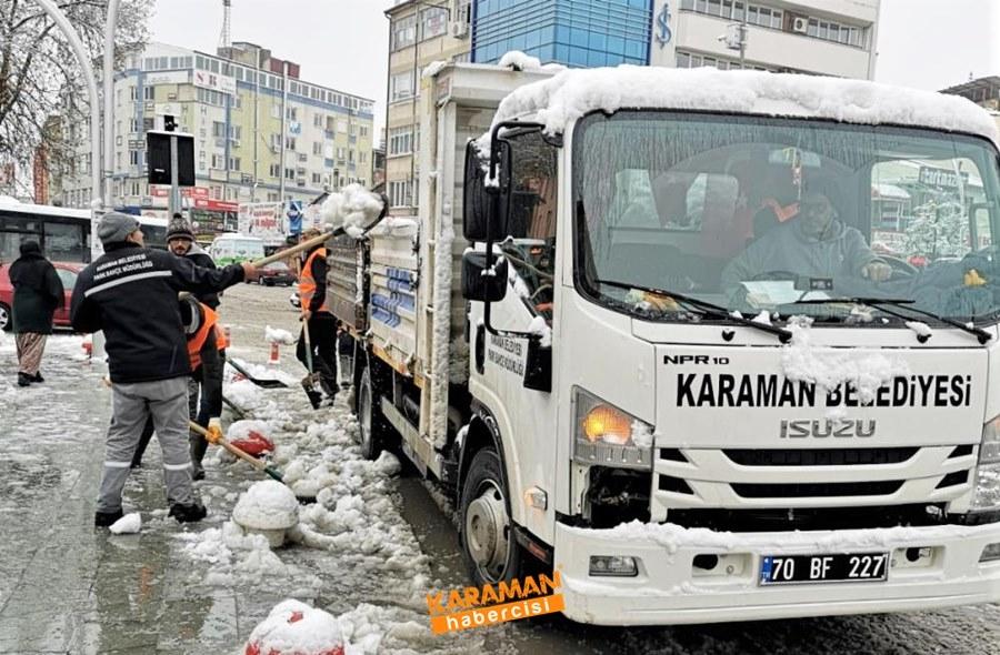 Karaman'da Belediye Ekiplerinin Yoğun Mesaisi 9
