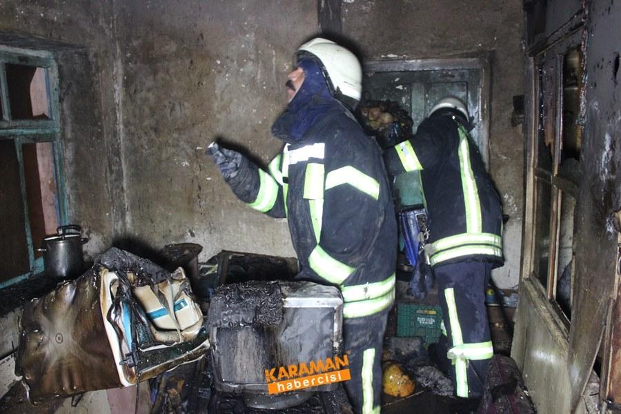 Karaman'da Ev Yangını 6
