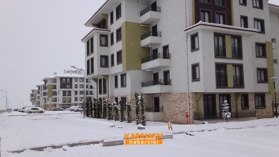 Karaman'da Kar Yağışı 1