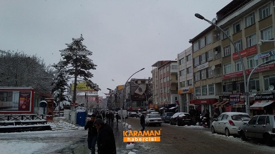 Karaman'da Kar Yağışı 10