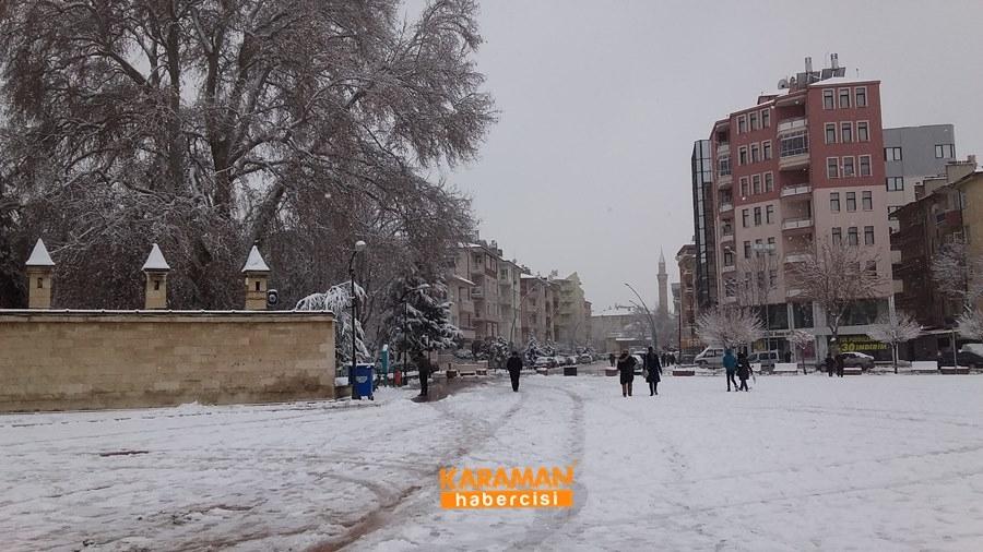 Karaman'da Kar Yağışı 17