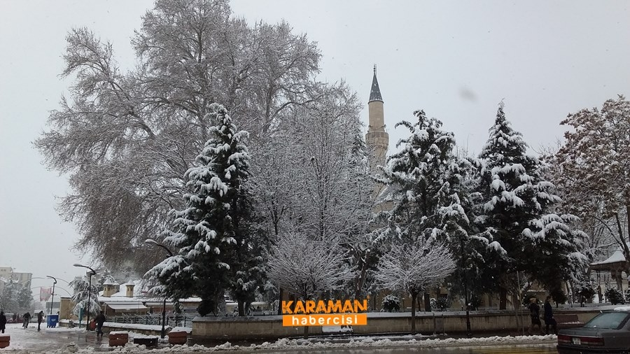 Karaman'da Kar Yağışı 18