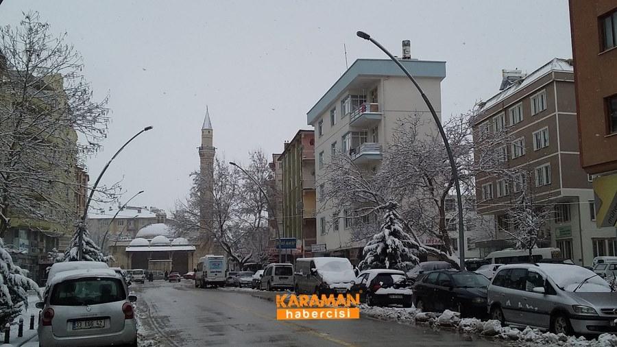 Karaman'da Kar Yağışı 19