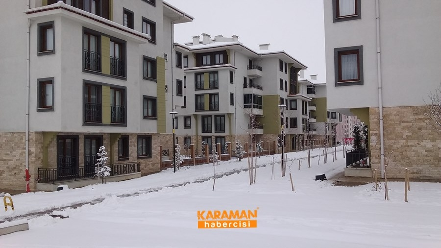Karaman'da Kar Yağışı 2