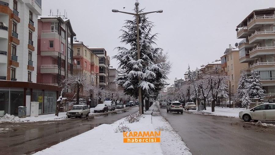 Karaman'da Kar Yağışı 20