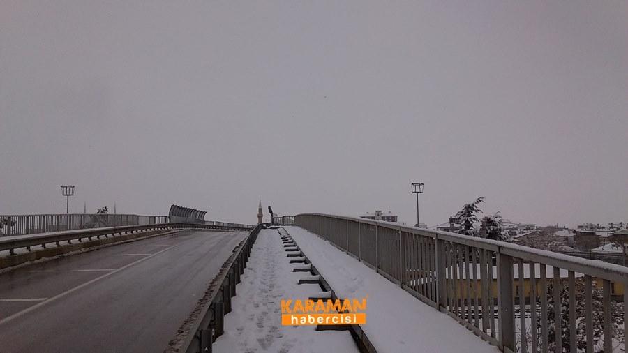 Karaman'da Kar Yağışı 25