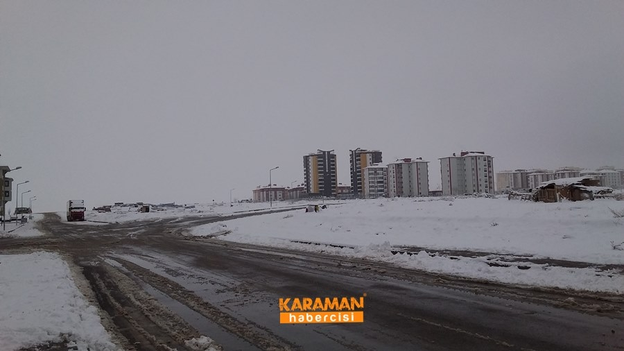 Karaman'da Kar Yağışı 3
