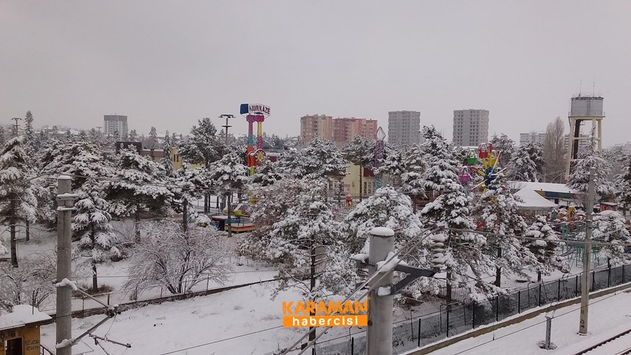 Karaman'da Kar Yağışı 32