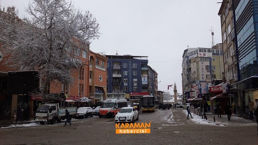 Karaman'da Kar Yağışı 5