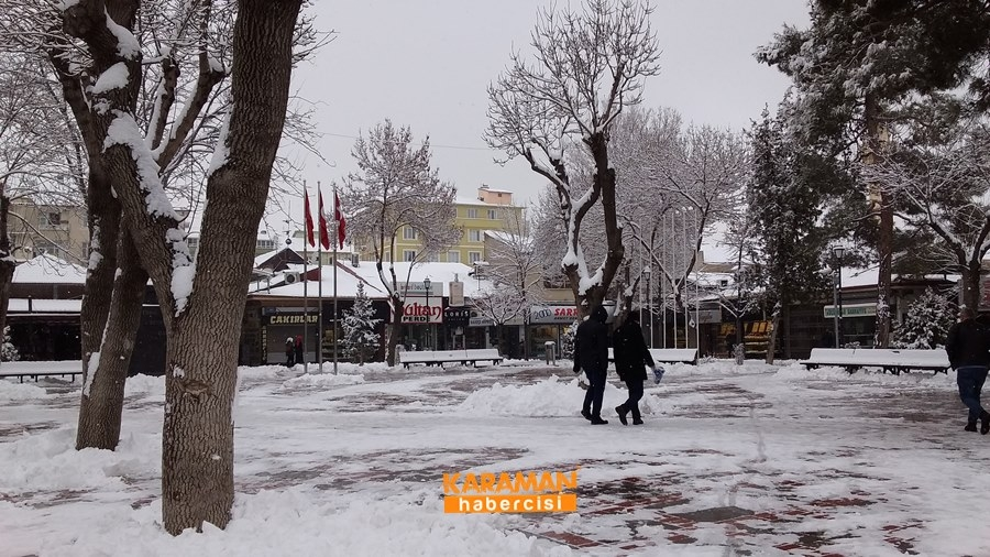 Karaman'da Kar Yağışı 8