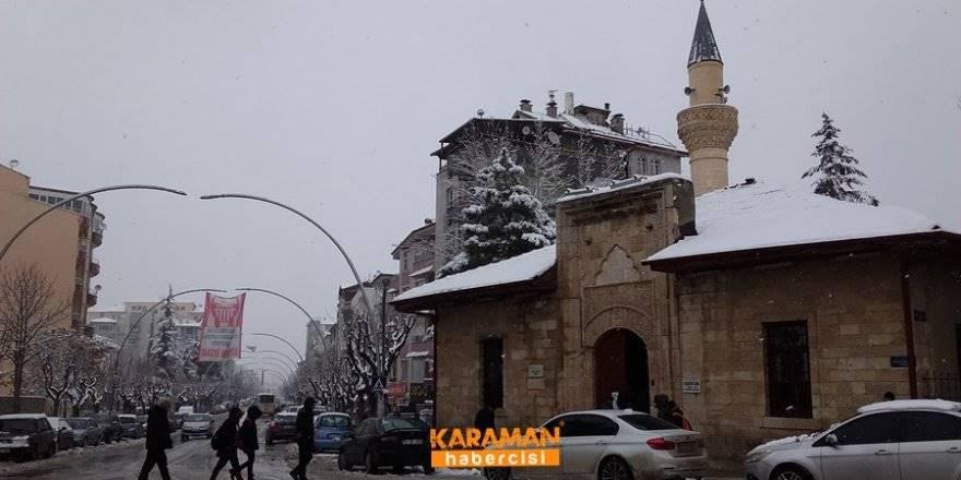 Karaman'da Kar Yağışı