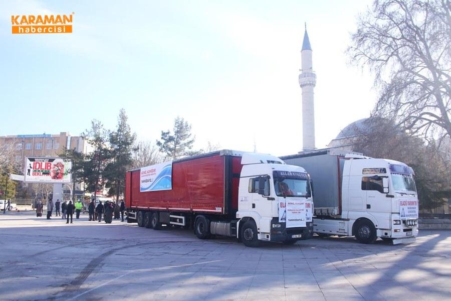 Karaman'da Elazığ'daki depremzedeler İçin yardım kampanyası 1