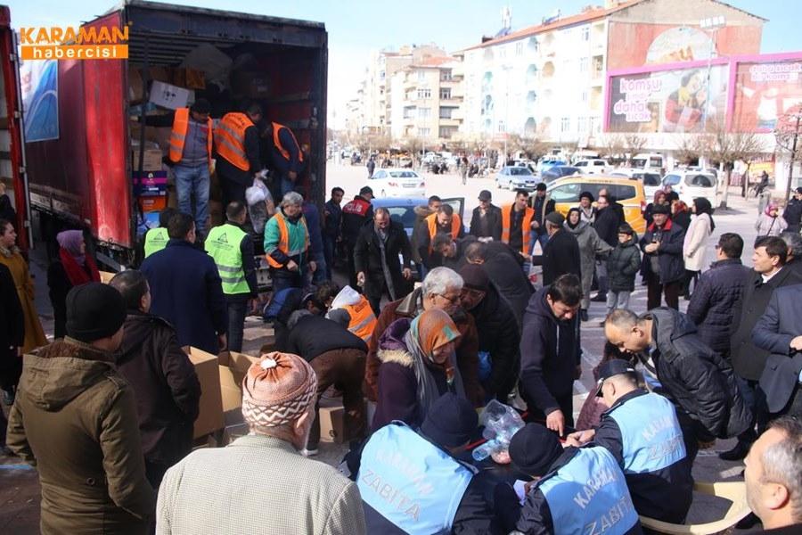Karaman'da Elazığ'daki depremzedeler İçin yardım kampanyası 27