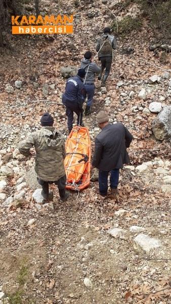 Karaman'da Uçurumdan Düşme 10