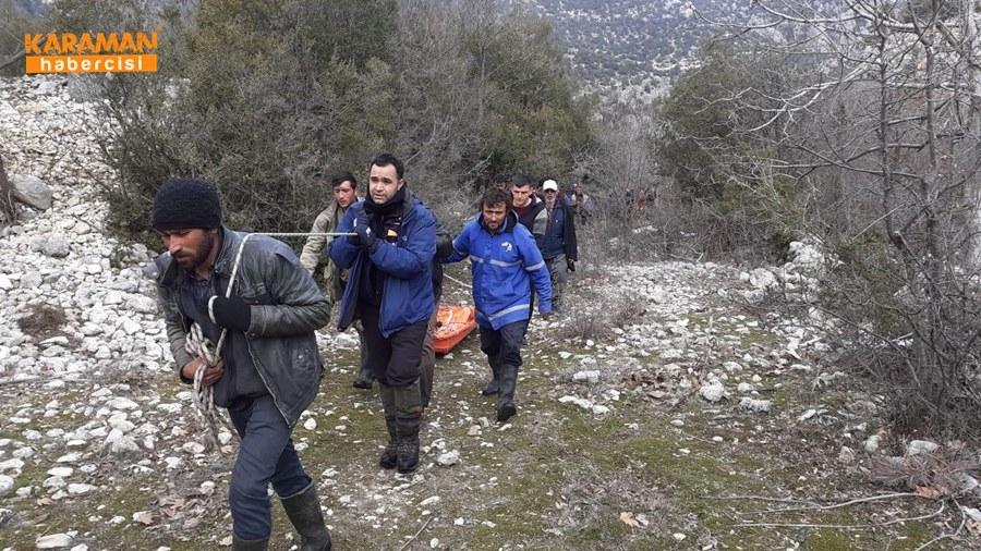 Karaman'da Uçurumdan Düşme 11