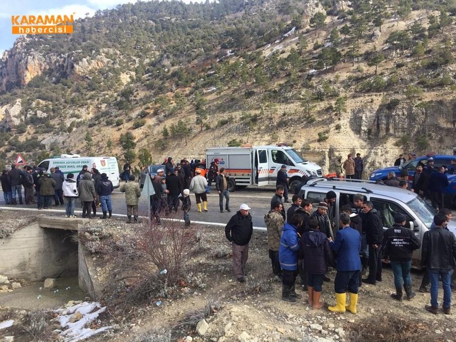 Karaman'da Uçurumdan Düşme 12