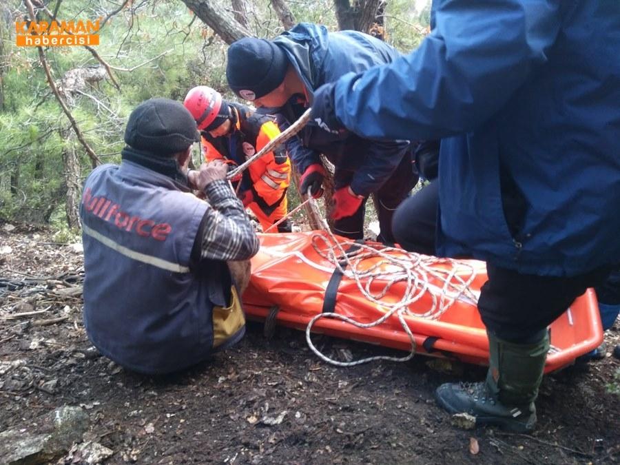 Karaman'da Uçurumdan Düşme 3