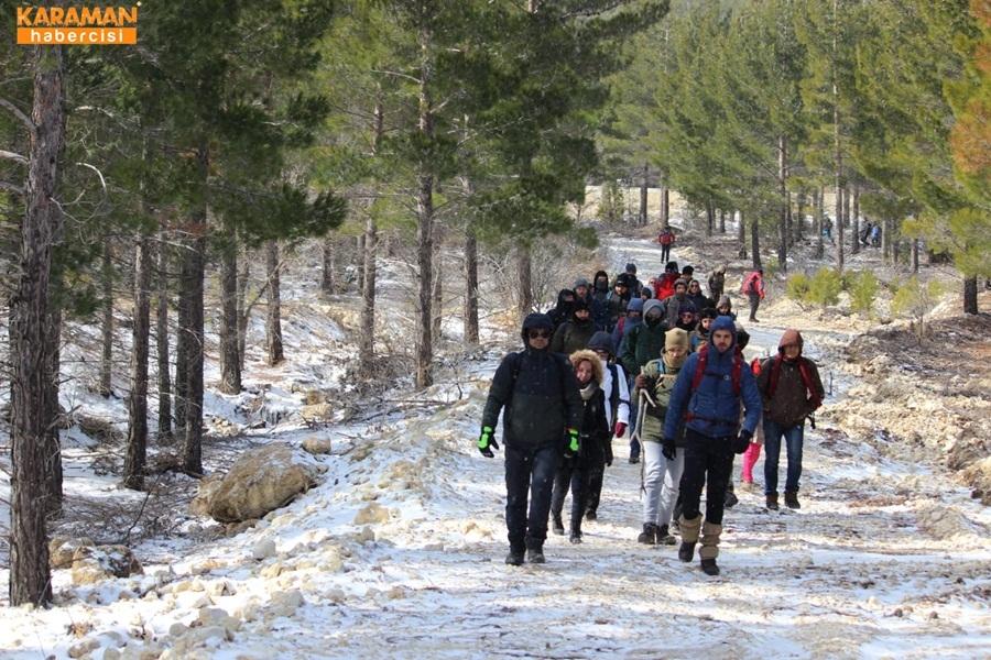 Karamanlı Doğa Severler Kar Kış Dinlemedi 10