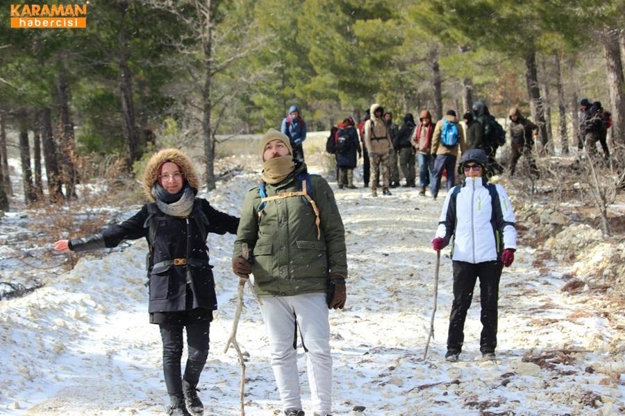 Karamanlı Doğa Severler Kar Kış Dinlemedi 9