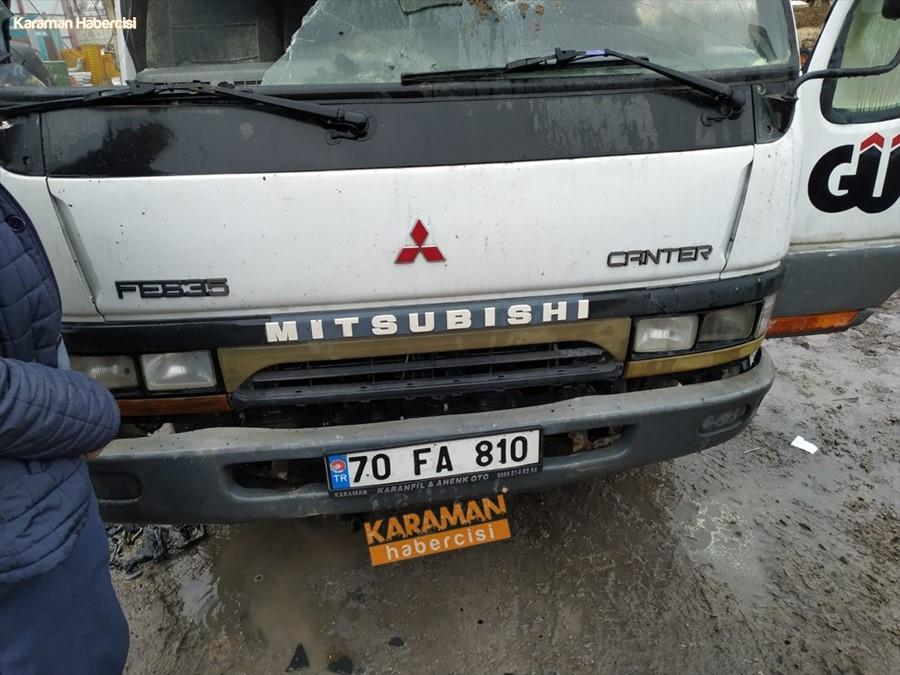 Karaman'da Kamyonet Yangını 1