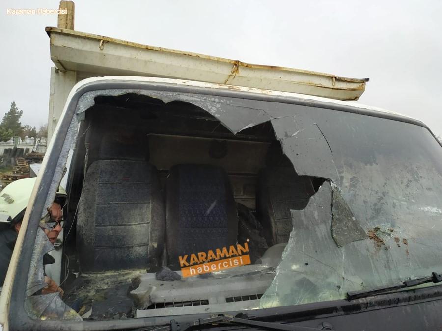 Karaman'da Kamyonet Yangını 5