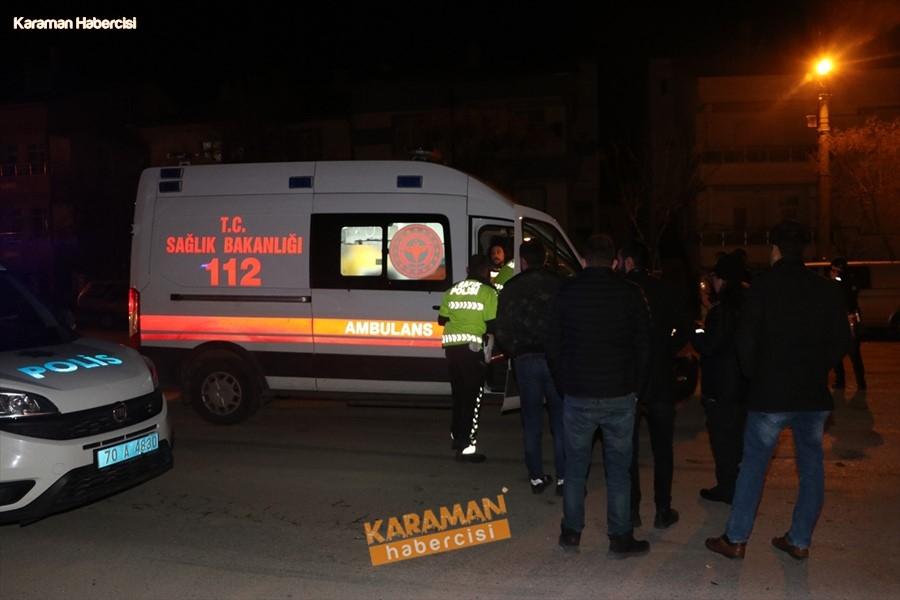 Karaman'da Otomobil, Polis Aracıyla Çarpıştı: 3'ü Polis 4 Yaralı 1