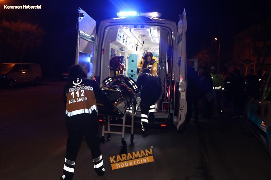 Karaman'da Otomobil, Polis Aracıyla Çarpıştı: 3'ü Polis 4 Yaralı 2
