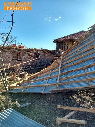 Kalaba Köyünde Şiddetli Rüzgar 1