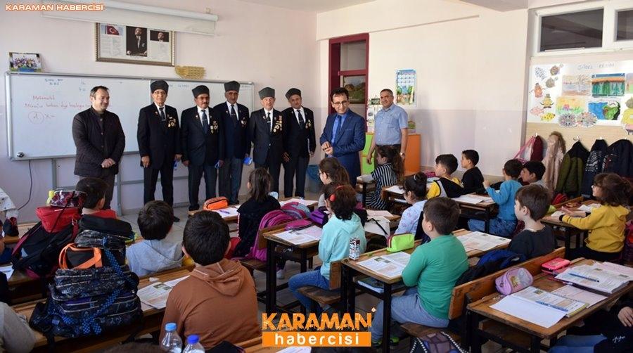 Karaman'da Gaziler Öğrencilere Vatan Savunmasını Anlatıyor 18