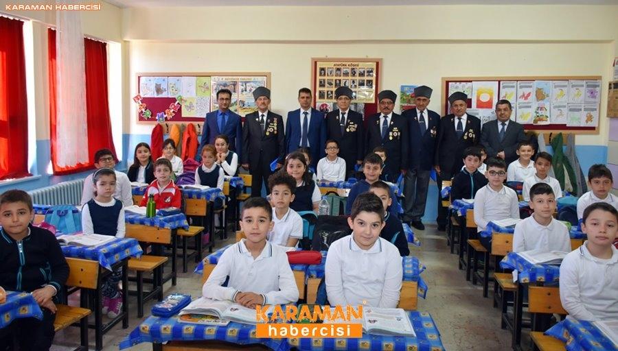 Karaman'da Gaziler Öğrencilere Vatan Savunmasını Anlatıyor 4