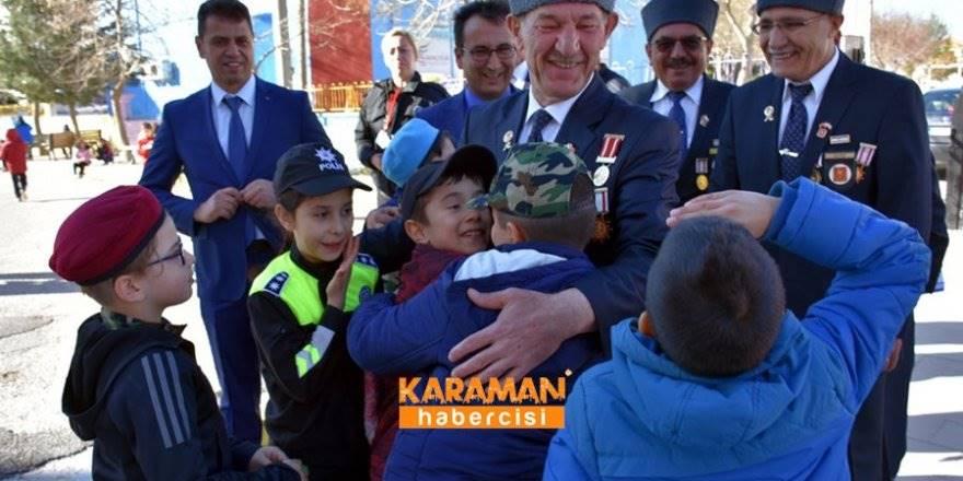 Karaman'da Gaziler Öğrencilere Vatan Savunmasını Anlatıyor