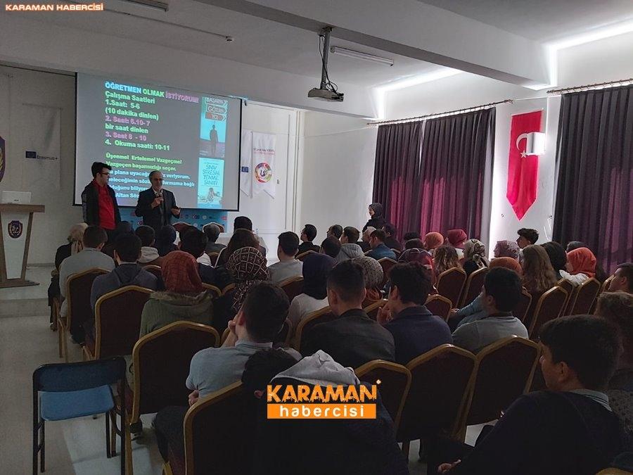 Ali Erkan Kavaklı Karaman'da Öğrenciler İle Buluştu 5