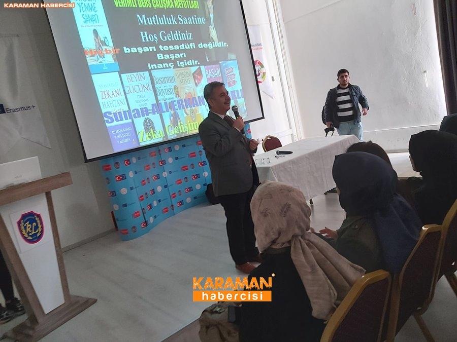 Ali Erkan Kavaklı Karaman'da Öğrenciler İle Buluştu 9