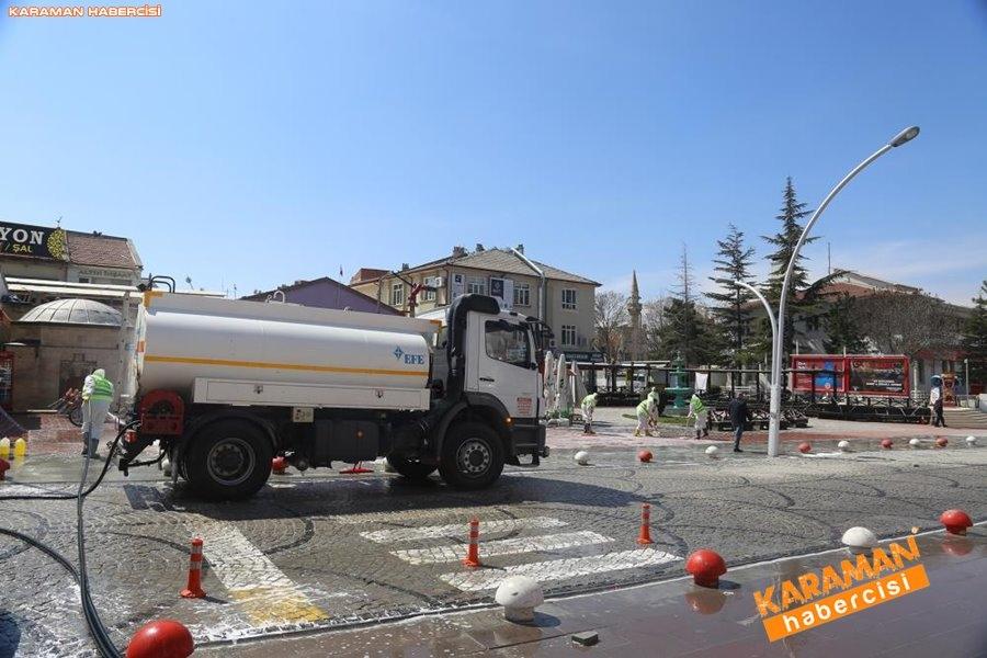 Karaman Belediyesi Yol ve Parklarda Çalışıyor 14