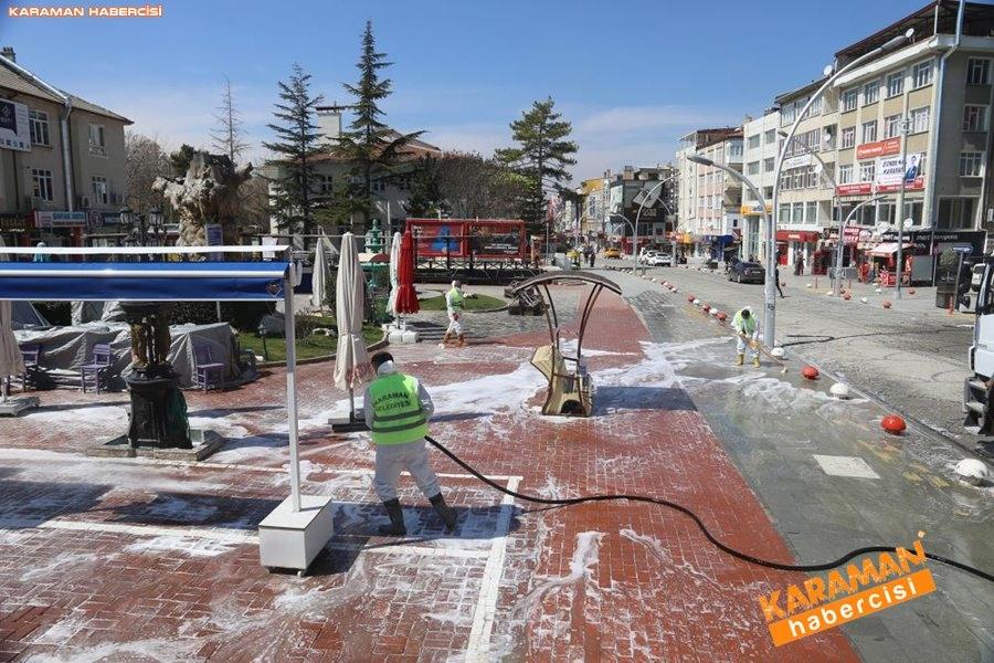 Karaman Belediyesi Yol ve Parklarda Çalışıyor 15